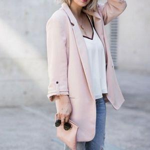 ZARA Gorgeous Blush Nude Pink Oversized Blazer S